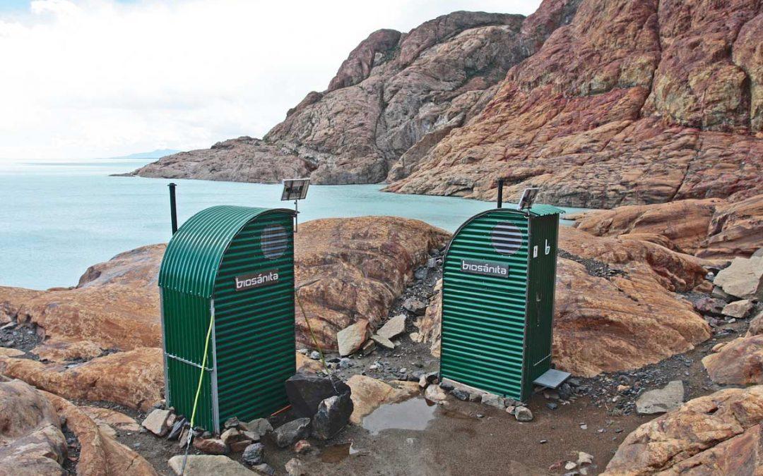 Instalamos baños secos en el glaciar Viedma